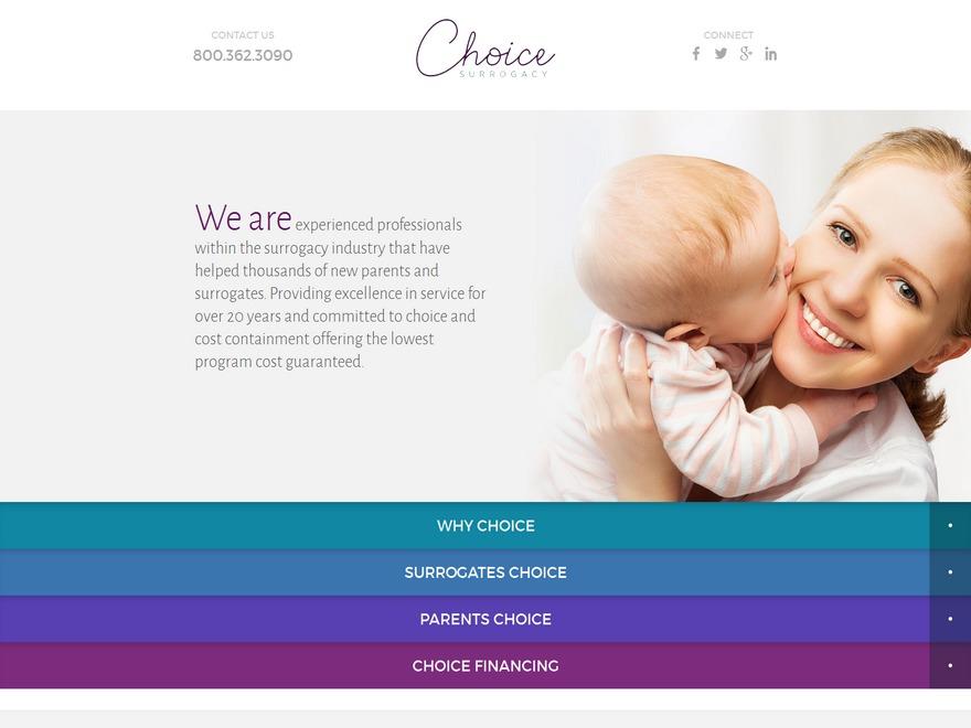 Best WordPress template ChoiceSurrogacy