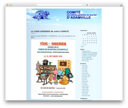 BlueSky WordPress template - comitedadamville.com