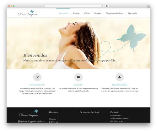 Lounge top WordPress theme - clinicaesquena.com