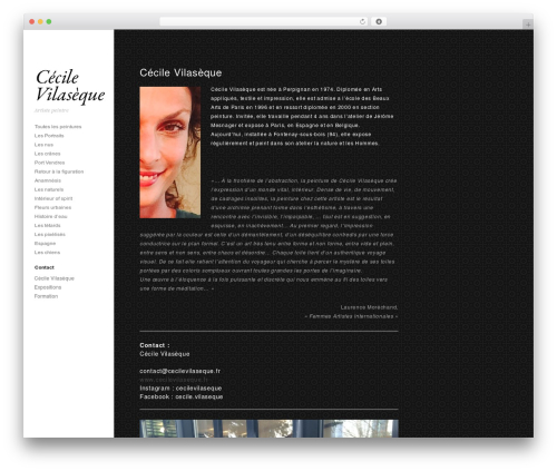 Photum WordPress theme - cecilevilaseque.fr