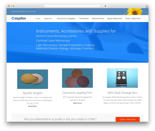 Satellite7 WordPress theme - caspilor.se