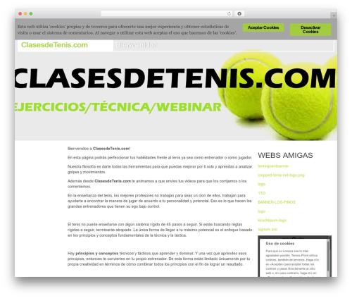 Swiss premium WordPress theme - clasesdetenis.com.es