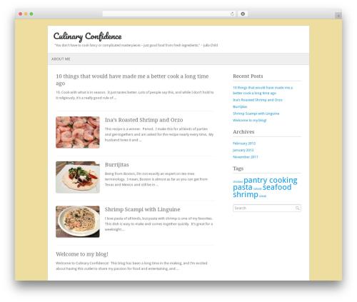 WordPress theme Fresh And Clean - culinaryconfidence.com