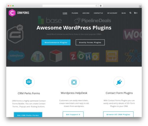 WordPress theme Jupiter - crmperks.com