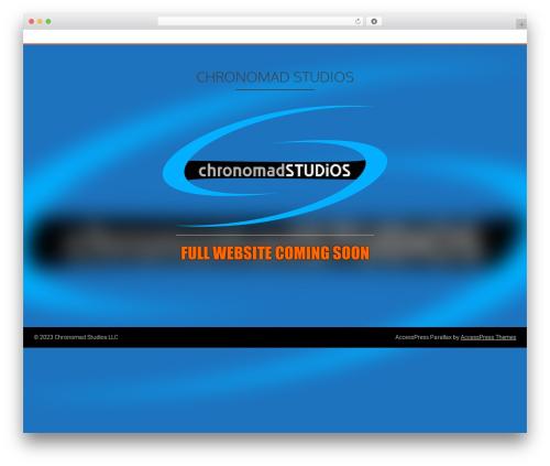 AccessPress Parallax best free WordPress theme - chronomad.co