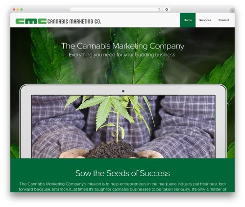 Landlr WordPress template for business - cannabismarketingco.com