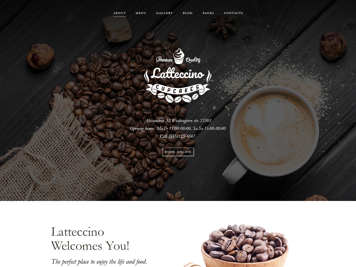 Latteccino WordPress store theme