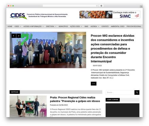 Merlin theme WordPress free - cides.com.br