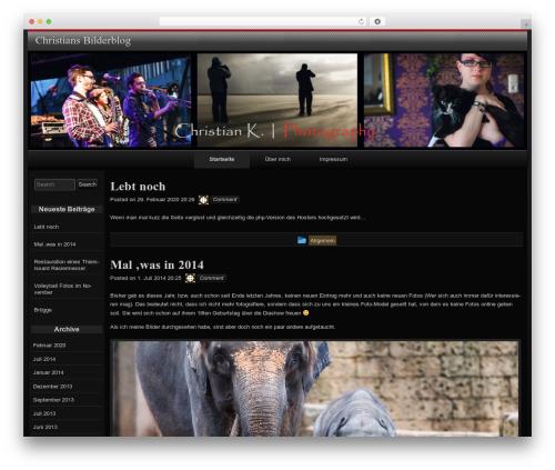 raindrops template WordPress free - christian-koelling.de