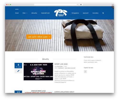 Template WordPress Avada - judoclubliberec.cz