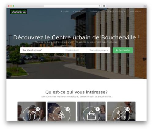 WordPress template Listable - centreurbain.ca