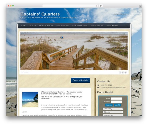 WordPress website template Alyeska - captainsquartersinstaugustine.com