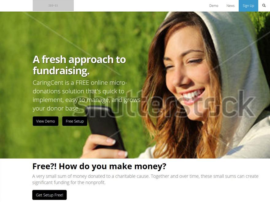 Best WordPress template CaringCent