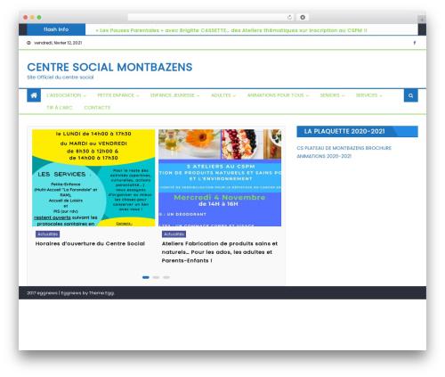Best WordPress template Eggnews - centresocial-montbazens.fr