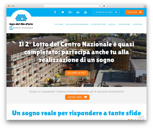 Milo WordPress theme design - centro-nazionale-sordociechi.legadelfilodoro.it