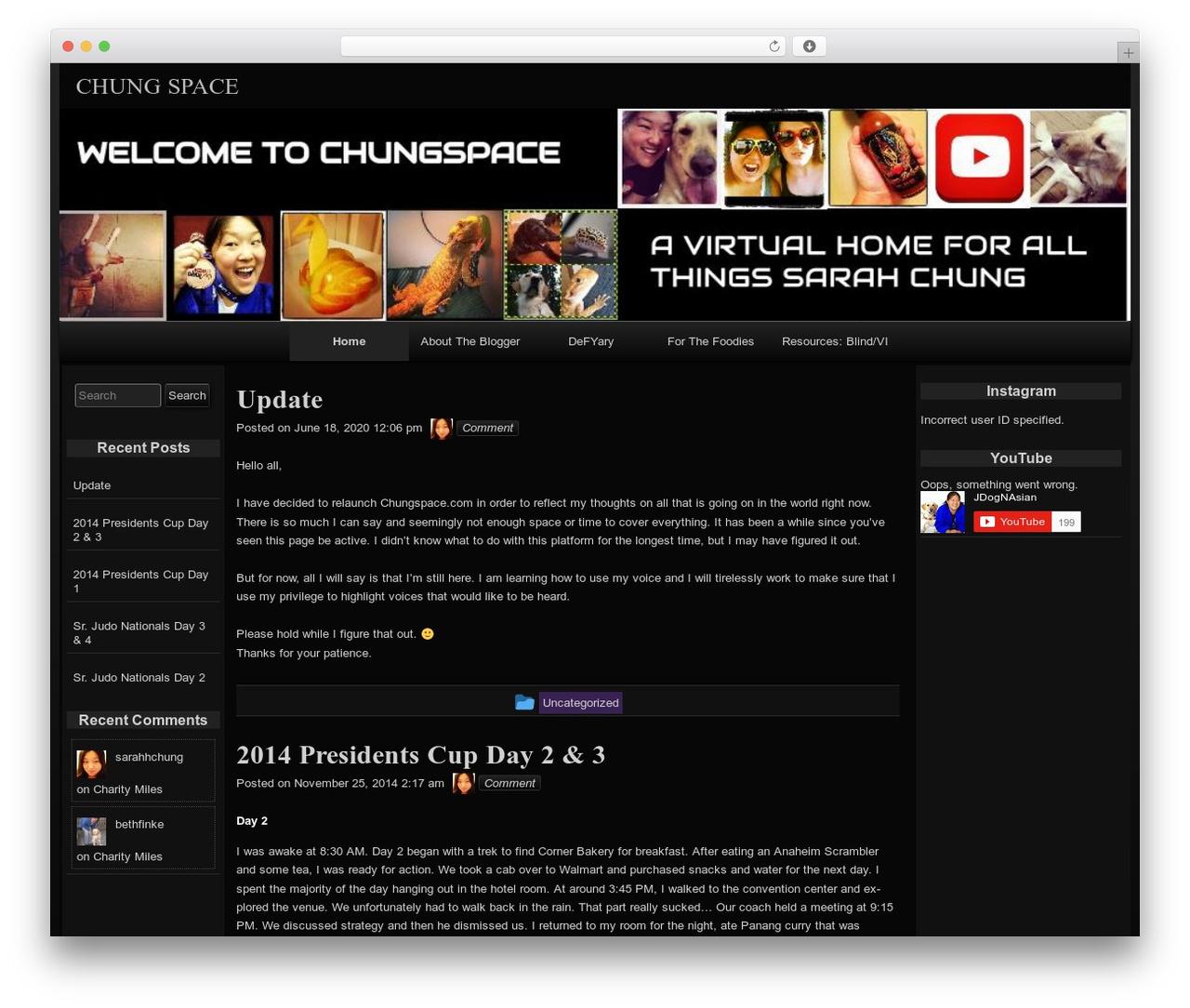 raindrops template WordPress free - chungspace.com