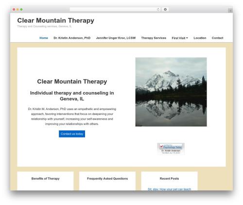 Responsive WordPress theme design - clearmountaintherapy.com