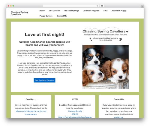 Responsive WP template - chasingspringcavaliers.com