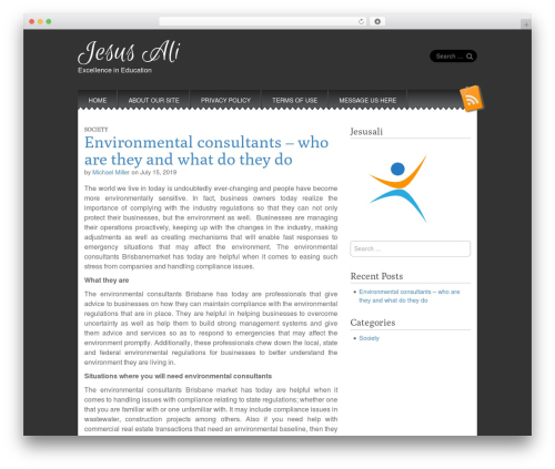 Snowblind WordPress theme free download - jesusali.com
