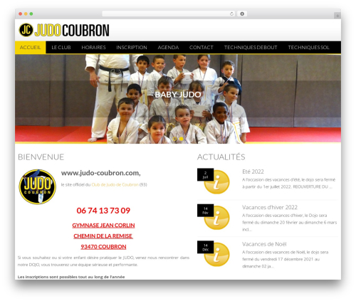 Free WordPress TablePress plugin - judo-coubron.com