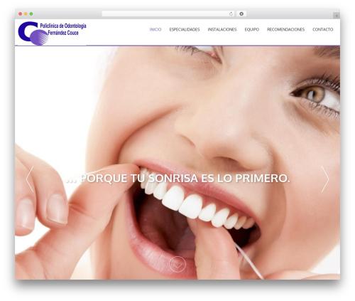 AccessPress Parallax free website theme - clinicafernandezcouce.com