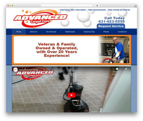 Advanced Carpet Care company WordPress theme - calladvancedcarpetcare.com