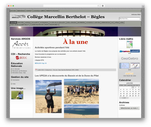 Atahualpa template WordPress - collegeberthelot-begles.fr