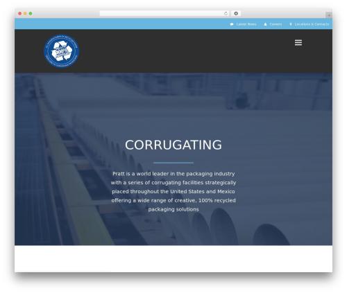 Avada theme WordPress - corrugate.prattindustries.com