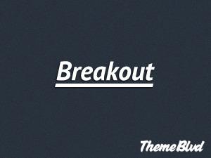 Breakout personal blog WordPress theme