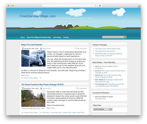 illustrative WordPress website template - cowichanbayvillage.com