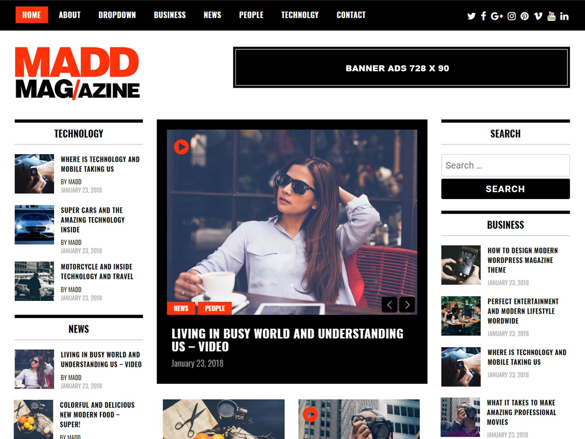 Madd Magazine WordPress news theme