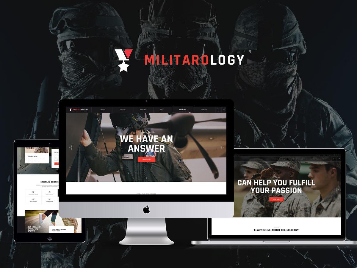 Militarology WordPress blog template