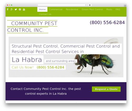 Pest Control V7 WordPress theme - communitypestcontrolca.com
