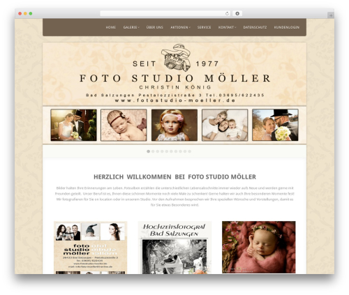 Acoustic WordPress blog theme - fotostudio-moeller.de