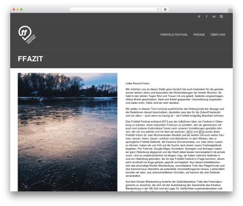 Best WordPress theme Metric - freifeld-festival.de