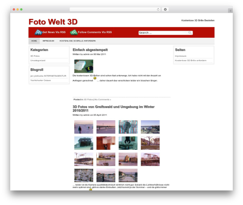 Best WordPress theme Producer - fotowelt3d.de