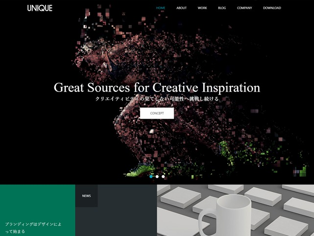 Best WordPress theme UNIQUE