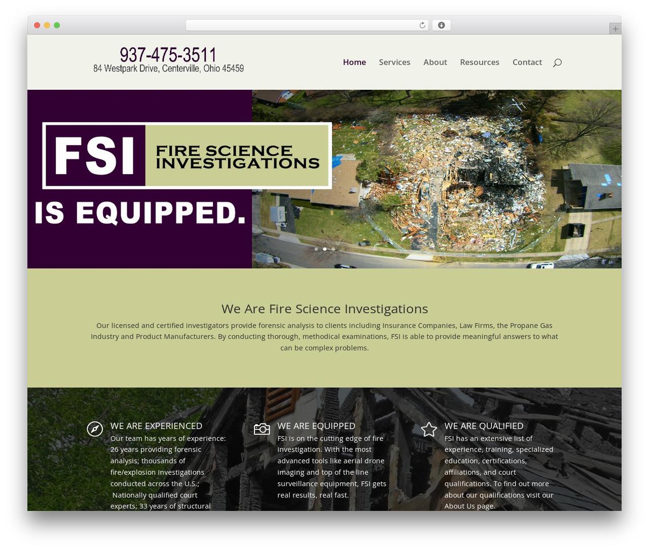 Divi best WordPress theme - fsiohio.com