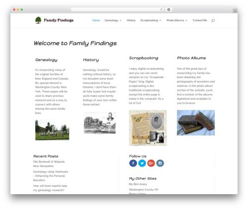 Divi best WordPress theme - familyfindings.com