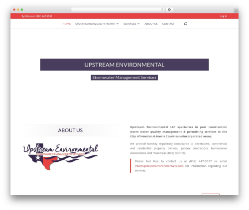 Divi WordPress website template - upstreamenvironmentaltx.com