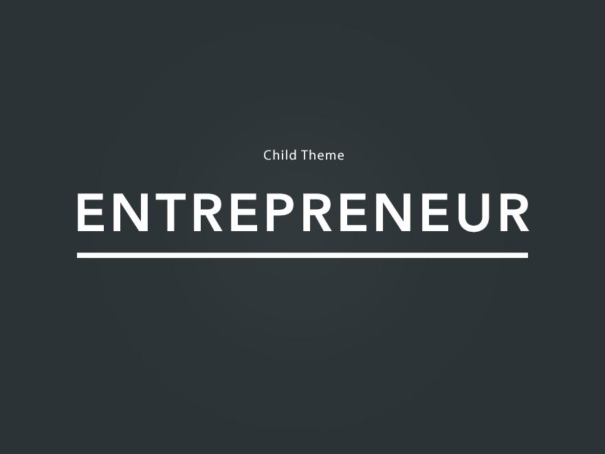 Entrepreneur Child Theme best WordPress theme