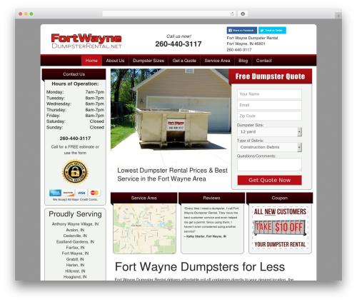 FoundationPress WordPress theme - fortwaynedumpsterrental.net