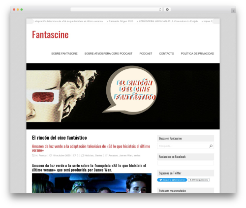 GalaNight Premium WordPress theme - fantascine.com