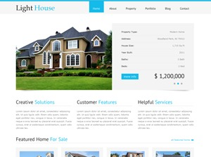 Light House WordPress template for business