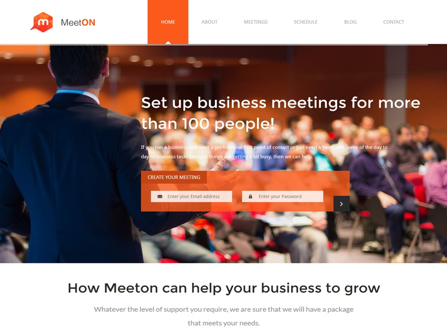 Meeton template WordPress