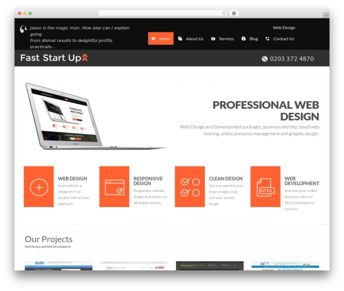MyWay WordPress template for business - faststartup.co.uk