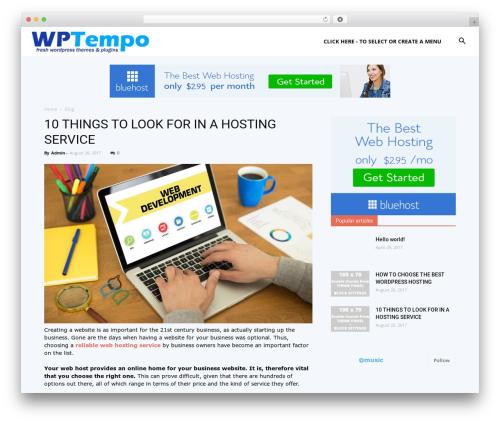 Newspaper WordPress magazine theme - wptempo.com