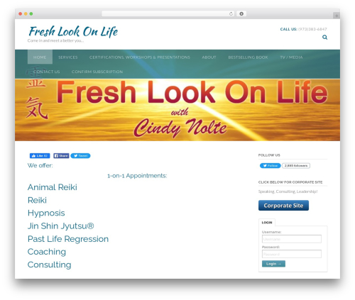 Panoramic best free WordPress theme - freshlookonlife.com