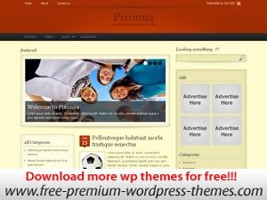 Pixomia newspaper WordPress theme