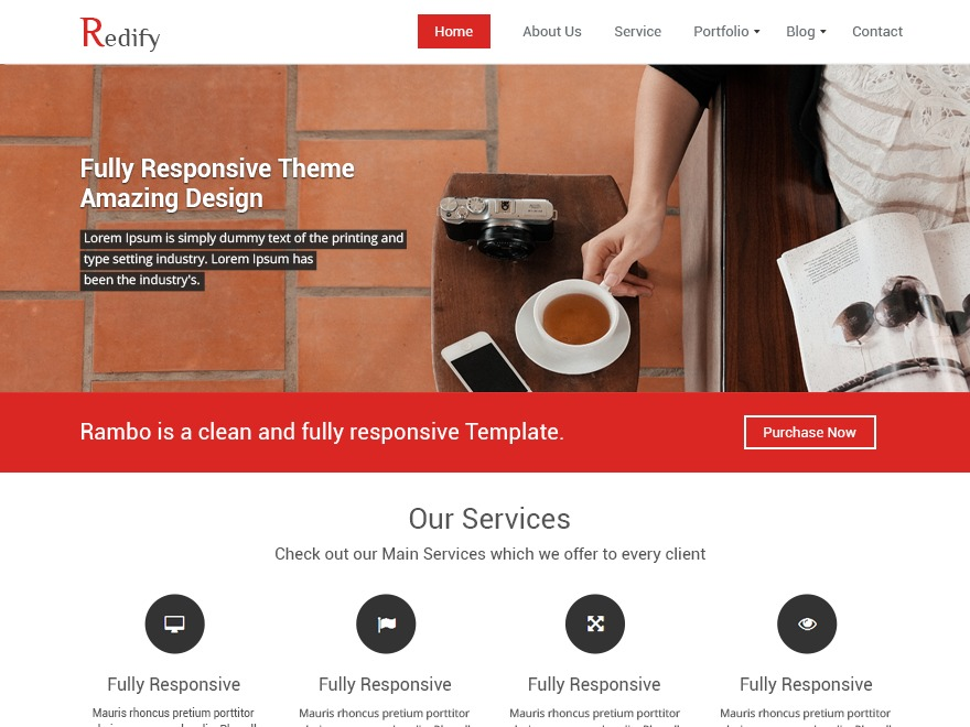 Redify free WP theme